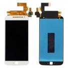Motorola Moto G4 Plus Screen Assembly (White/Black) (OEM) - frame optionaled