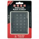 Qianli MEGA-IDEA Black Reballing Stencil For Andriod QL 19 MTK MT Power (MOQ:24 PCS)
